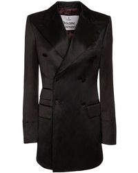 Vivienne Westwood Jackettkleid Aus Enversatin - Schwarz