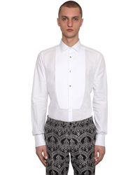 Dolce & Gabbana Рубашка Из Хлопка Поплин - Белый