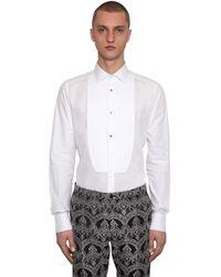 Dolce & Gabbana Smokinghemd Aus Baumwollpopeline - Weiß