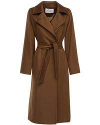 Max Mara Manuela Camel Long Coat - Brown
