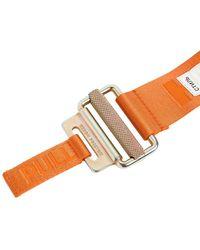 Heron Preston Cinturón Webbing De Tech Con Logo 4cm - Naranja