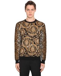 Versace Свитер Из Смешанной Вискозы - Коричневый