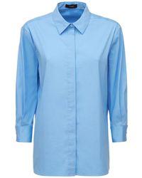 Theory Klassisches Hemd Aus Baumwollpopeline - Blau