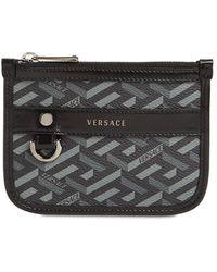 Versace コーテッドキャンバスポーチ - ブラック