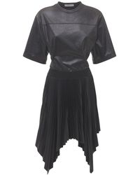 Givenchy Платье Плиссе С Логотипом - Черный