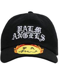 Palm Angels Бейсбольная Кепка Из Хлопка - Черный