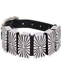 Rust Mood - Leather Bracelet W/ Metal Detail - Lyst