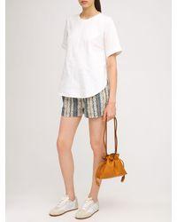 Loewe Shorts Aus Gestreiftem Baumwollcanvas - Mehrfarbig
