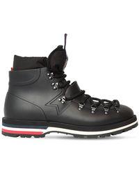 Moncler Henoc Rubber Lace-up Boots - Black