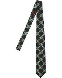 Gucci Corbata De Seda Con Estampado Vintage De 8 Cm - Verde