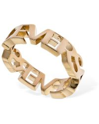 Versace Ring Mit Logo - Mettallic