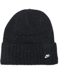 """Nike Bonnet En Maille Nervurée """"nsw"""" - Noir"""