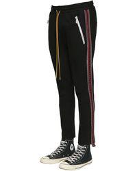 Rhude Traxedo Side-stripe Jersey Track Trousers - Black