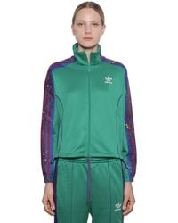 adidas Originals Floral Jersey Sweatshirt - Green