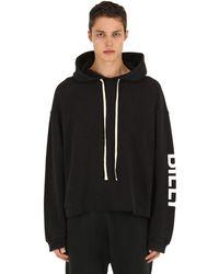 Billy Oversized Sweatshirt Hoodie W/ Logo - Black