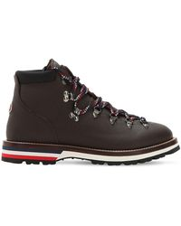 Moncler Peak Leather Hiking Boots - Brown