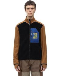 Loewe High Neck Zip-up Jumper - Multicolour