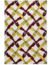 Bottega Veneta Пляжное Полотенце Из Хлопка С Принтом - Многоцветный