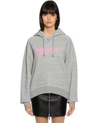 DSquared² Logo Print Hooded Cotton Sweatshirt - Gray