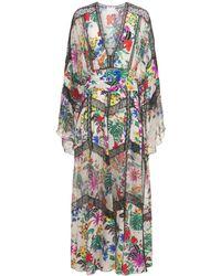 Zuhair Murad Платье Из Шелкового Крепдешина С Принтом - Многоцветный