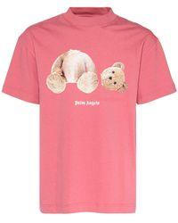 Palm Angels Bear コットンジャージーtシャツ - ピンク