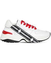 DSquared² 40mm Sneakers De Piel Con Cinta Y Estampado - Multicolor