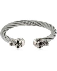 Cantini Mc Firenze - Twisted Double Skull Bracelet - Lyst