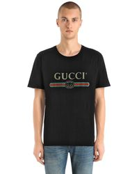 Gucci Washed T-shirt With Logo - Black