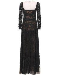 Zuhair Murad Длинное Платье Passiflora - Черный