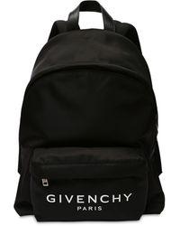 Givenchy Mochila De Nylon Con Logo Estampado - Negro
