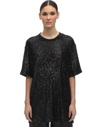 In the mood for love - T-shirt En Sequins Col Rond - Lyst