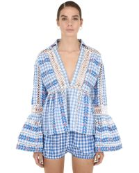 Dodo Bar Or - Cotton Jacquard & Lace Shirt - Lyst