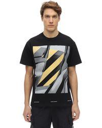 United Standard Piotr コットンジャージーtシャツ - ブラック