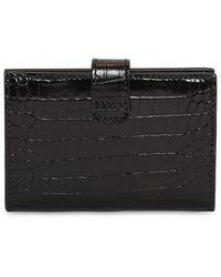 Givenchy Brieftasche Aus Leder Mit Krokoprägung - Schwarz