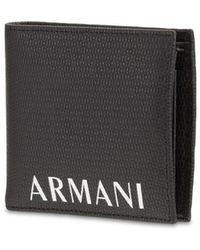 Armani Exchange レザーウォーレット - ブラック