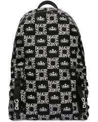 Dolce & Gabbana - Rucksack Aus Nylon Mit Logo - Lyst