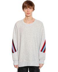 Facetasm Oversized Sweatshirt Aus Jersey Mit Strick - Weiß