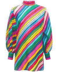 Gucci Топ Из Льна С Принтом - Многоцветный