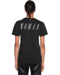 Off-White c/o Virgil Abloh Print Cotton Jersey T-shirt - Black