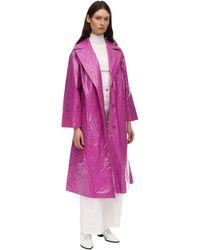 Stand Studio Lexie Nylon Trench Coat - Purple