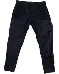 C.P. Company Asymmetric Cargo Pant - Blue