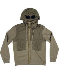C.P. Company Fleece GOGGLE Hoodie - Green