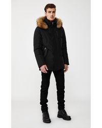 Mackage Raf Down Coat With Removable Natural Fur Trim & Hood In Black - Men