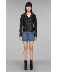 Mackage - Hania Biker Style Leather Jacket - Lyst