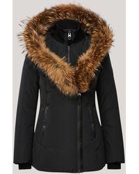 Mackage Adali Down Coat With Natural Fur Signature Collar In Black - Women