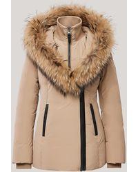 Mackage Adali Down Coat With Natural Fur Signature Collar In Camel - Women - L