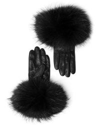 Mackage - Witty Leather Gloves With Fur Cuff For Women - Lyst