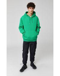 Mackage Krys Unisex Hoodie With Rainwear Lined Hood In Green - Unisex