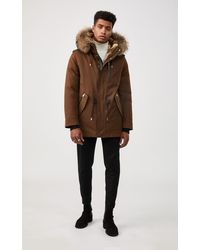Mackage Seth Fur-lined Military Parka With Removable Natural Fur In Camel - Men