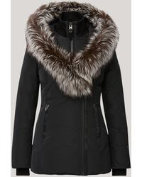 Mackage Adali Down Coat With Silver Fox Fur Signature Collar In Black - Women - L